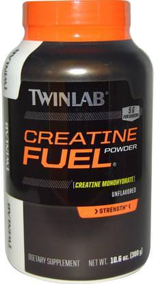 Twinlab, Creatine Fuel Powder, Unflavored, 5 g, 10.6 oz (300 g) ,والرياضة، ومسحوق الكرياتين