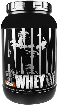 Universal Nutrition, Animal Whey, Muscle Food, Salted Caramel, 2 lbs (907 g) ,والرياضة، والعضلات