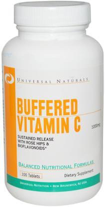 Universal Nutrition, Buffered Vitamin C, 1000 mg, 100 Tablets ,وفيتامين ج، وفيتامين ج مخزنة