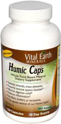 Vital Earth Minerals, Humic Caps, 120 Capsules ,والملاحق، والمعادن