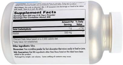 الفيتامينات، إينوزيتول KAL, Inositol 550 mg Powder, 8 oz (228 g)