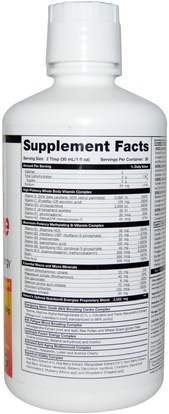 الفيتامينات، الفيتامينات السائلة Health Direct, Natures Optimal Nutrition, Energize, Peach Mango Splash, 30 fl oz (887 ml)