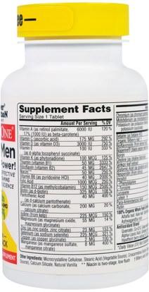 الفيتامينات، الرجال الفيتامينات Super Nutrition, SimplyOne, 50+ Men, Triple Power Multivitamins, Iron Free, 30 Tablets (Discontinued Item)