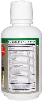 الفيتامينات، الفيتامينات المتعددة، الفيتامينات السائلة Natures Answer, Liquid Multiple Vitamin & Mineral, Natural Mango Flavor, 16 fl oz (480 ml)