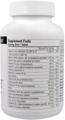 الفيتامينات، الفيتامينات Source Naturals, Mega-One, No Iron, 60 Tablets