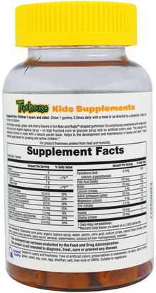 منتجات حساسة للحرارة، الفيتامينات، غوميس الفيتامينات Treehouse Kids, Max & Ruby, Gummies, Multi Vitamin with Minerals, Natural Fruit Flavors, 60 Gummies