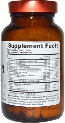 الفيتامينات، فيتامين ب المعقدة 100 Olympian Labs Inc., Vitamin B-100, 90 Tablets