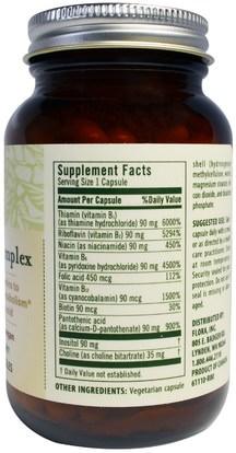 الفيتامينات، فيتامين ب المعقدة Flora, Hi-Potency B Complex, 60 Veggie Caps