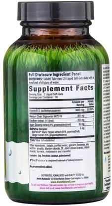 الفيتامينات، وفيتامين ب، وفيتامين ب 12، وفيتامين ب 12 - سيانوكوبالامين Irwin Naturals, B-12 Extract, Quick Release, 60 Liquid Soft-Gels