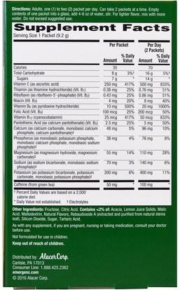 الفيتامينات، فيتامين ج Emergen-C, Energy Plus, Lemon Lime, 18 Packets, 0.32 oz (9.2 g ) Each