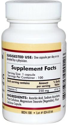 الفيتامينات، فيتامين ج Kirkman Labs, Vitamin C, 250 mg, 100 Capsules
