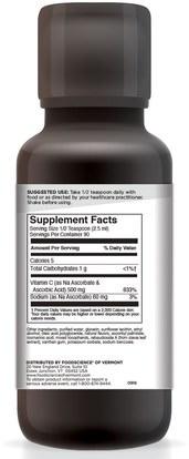الفيتامينات، فيتامين ج، المكملات الغذائية FoodScience, Advanced Naturals, Ultra C, 7.61 oz (225 ml)