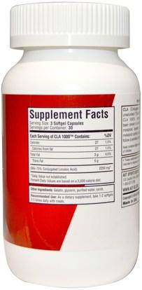 وفقدان الوزن، والنظام الغذائي، كلا (مترافق حمض اللينوليك) AST Sports Science, CLA-1000, 90 Softgel Capsules