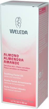 Weleda, Almond, Soothing Facial Oil, 1.7 fl oz (50 ml) ,الجمال، العناية بالوجه، نوع الجلد الوردية، البشرة الحساسة