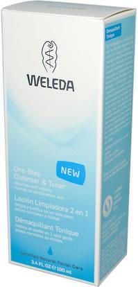Weleda, One-Step Cleanser & Toner, 3.4 fl oz (100 ml) ,الجمال، العناية بالوجه، منظفات الوجه، أحبار الوجه