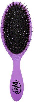 Wet Brush, Original Detangler Brush, Purple, 1 Brush ,حمام، الجمال، دقة بالغة، فروة الرأس