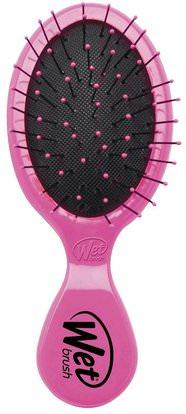 Wet Brush, Squirt Detangler, Pink, 1 Brush ,حمام، الجمال، دقة بالغة، فروة الرأس