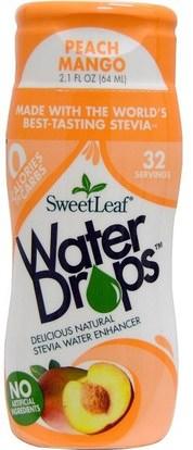 Wisdom Natural, SweetLeaf, Water Drops, Stevia Water Enhancer, Peach Mango, 2.1 fl oz (64 ml) ,الغذاء، المحليات، ستيفيا السائل