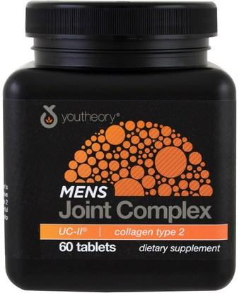 Youtheory, Mens Joint Complex, UC-II, 60 Tablets ,الصحة، العظام، هشاشة العظام، الكولاجين، المكملات الغذائية
