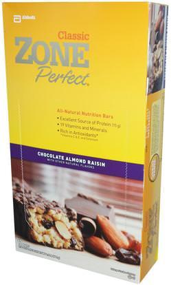 ZonePerfect, Classic, All-Natural Nutrition Bars, Chocolate Almond Raisin, 12 Bars, 1.76 oz (50 g) Each ,المكملات الغذائية، الحانات الغذائية