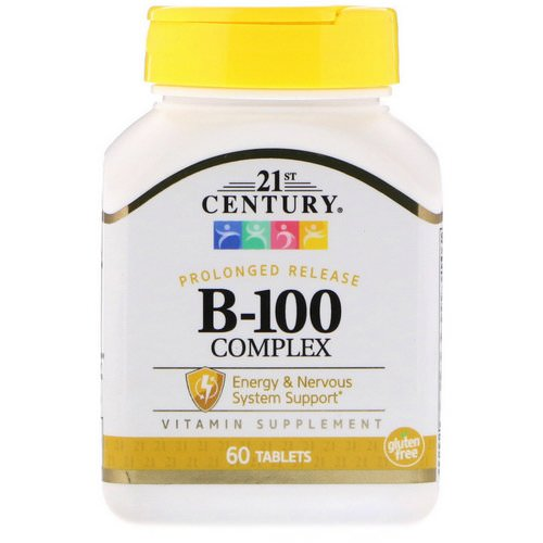 21st Century, B-100 Complex, Prolonged Release, 60 Tablets فوائد