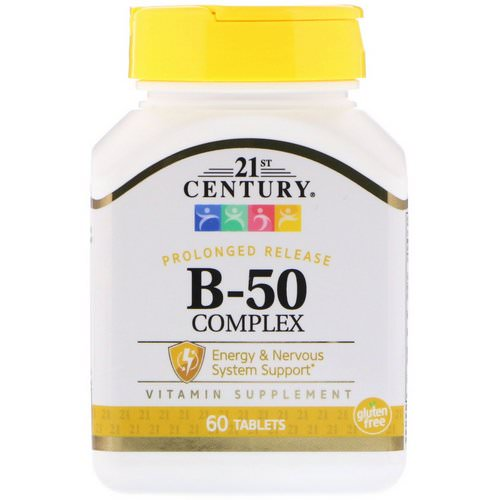 21st Century, B-50 Complex, Prolonged Release, 60 Tablets فوائد