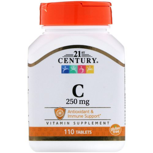 21st Century, Vitamin C, 250 mg, 110 Tablets فوائد