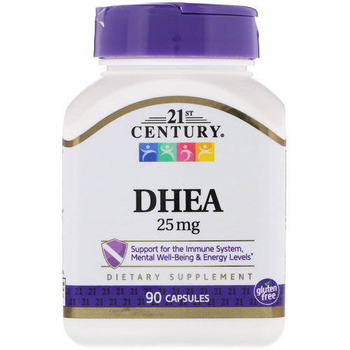 21st Century, DHEA, 25 mg, 90 Capsules فوائد