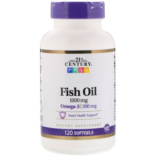 21st Century, Fish Oil, 1,000 mg, 120 Softgels فوائد