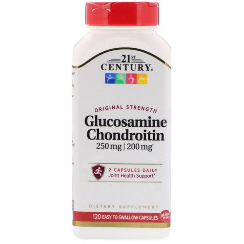 21st Century, Glucosamine 250 mg Chondroitin 200 mg Original Strength, 120 Easy to Swallow Capsules فوائد