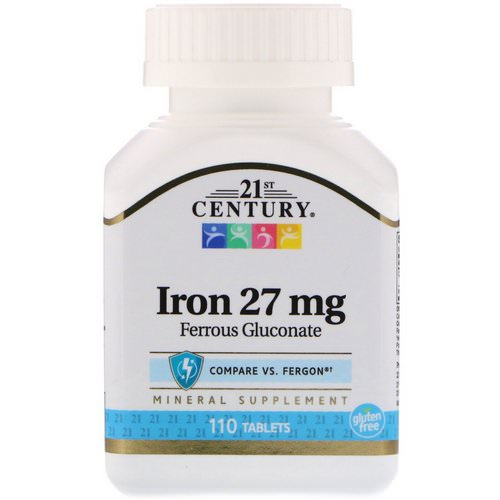 21st Century, Iron, 27 mg, 110 Tablets فوائد