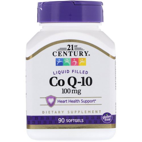 21st Century, Liquid Filled Co Q-10, 100 mg, 90 Softgels فوائد