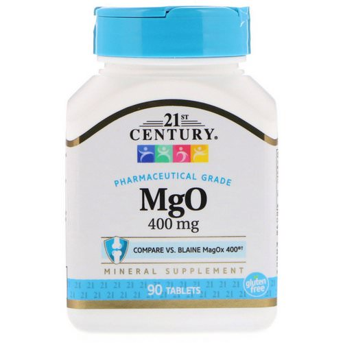 21st Century, MgO, 400 mg, 90 Tablets فوائد