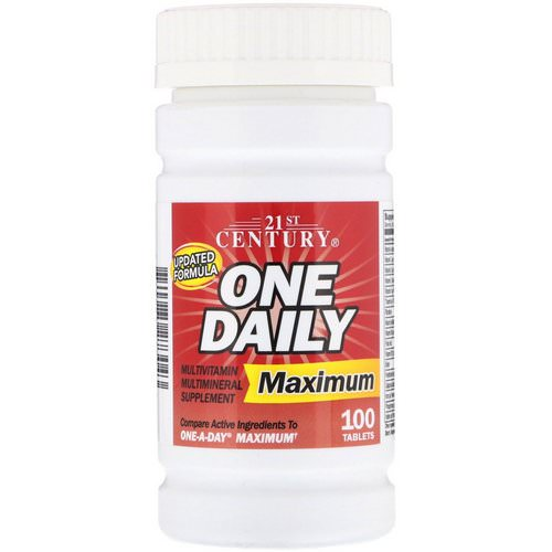 21st Century, One Daily, Maximum, Multivitamin Multimineral, 100 Tablets فوائد