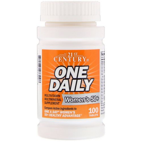 21st Century, One Daily, Woman's 50+, Multivitamin Multimineral, 100 Tablets فوائد