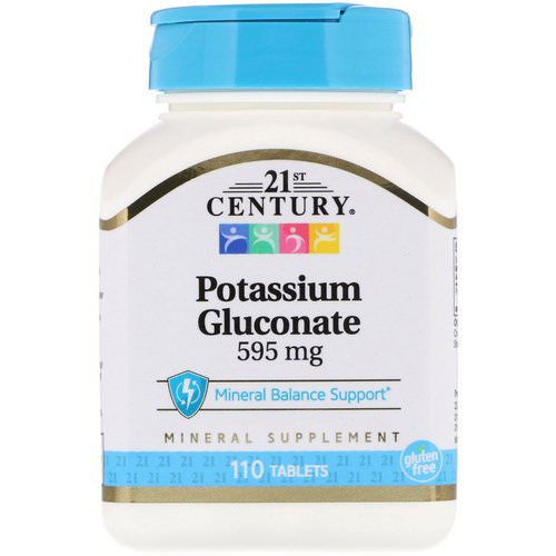 21st Century, Potassium Gluconate, 595 mg, 110 Tablets فوائد