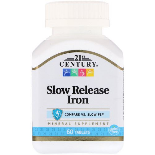 21st Century, Slow Release Iron, 60 Tablets فوائد