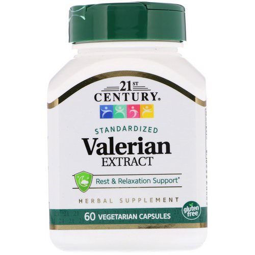 21st Century, Valerian Extract, Standardized, 60 Vegetarian Capsules فوائد