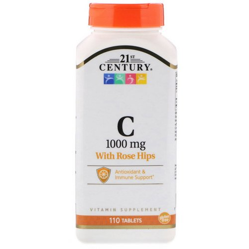 21st Century, Vitamin C, with Rose Hips, 1000 mg, 110 Tablets فوائد