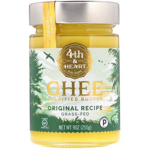 4th & Heart, Ghee Clarified Butter, Grass-Fed, Original Recipe, 9 oz (255 g) فوائد