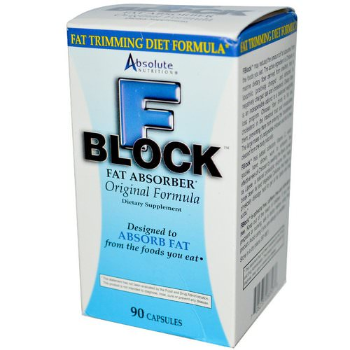 Absolute Nutrition, FBlock, Fat Absorber, 90 Capsules فوائد