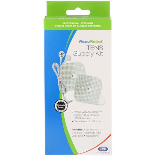 AccuRelief, TENS Supply Kit, 4 Sets of 2 Electrode Pads & 1 Lead Wire فوائد