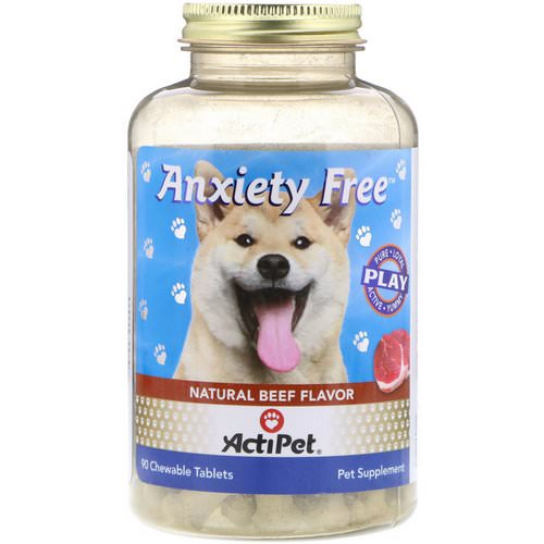 Actipet, Anxiety Free, Natural Beef Flavor, 90 Chewable Tablets فوائد