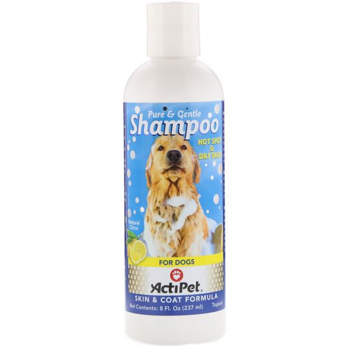 Actipet, Pure & Gentle Shampoo for Dogs, Natural Citrus, 8 fl oz (237 ml) فوائد