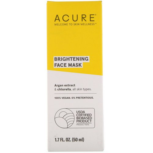Acure, Brightening Face Mask, 1.7 fl oz (50 ml) فوائد