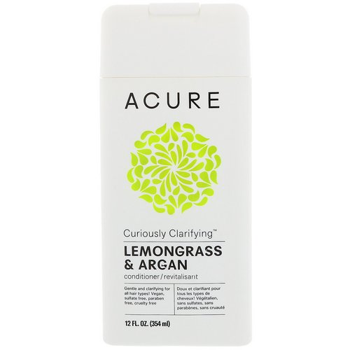 Acure, Curiously Clarifying Conditioner, Lemongrass & Argan, 12 fl oz (354 ml) فوائد