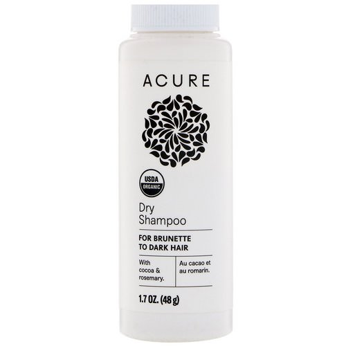 Acure, Dry Shampoo, For Brunette to Dark Hair, 1.7 oz (48 g) فوائد