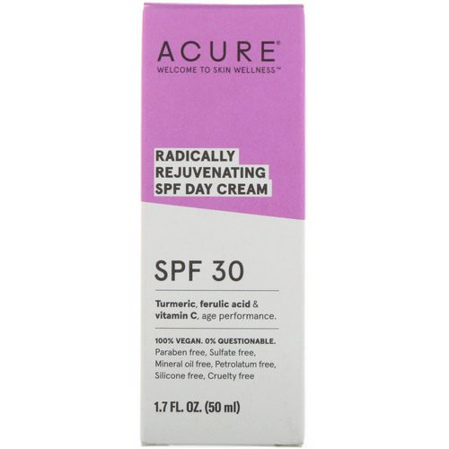 Acure, Radically Rejuvenating Day Cream, SPF 30, 1.7 fl oz (50 ml) فوائد