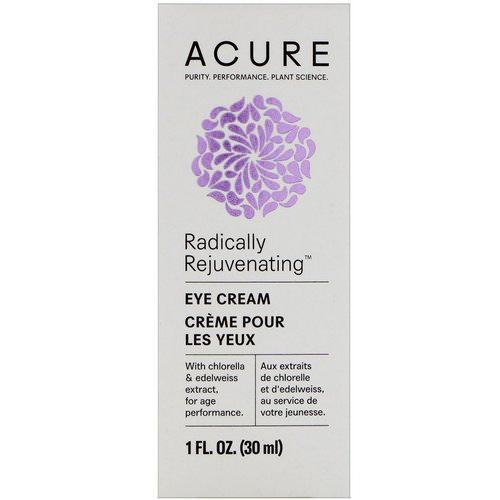 Acure, Radically Rejuvenating Eye Cream, 1 fl oz (30 ml) فوائد