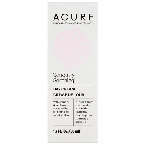 Acure, Seriously Soothing, Day Cream, 1.7 fl oz (50 ml) فوائد